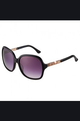 Replica Hermes Large Oversized Black Frame Sunglasses with Metallic Logo 308101