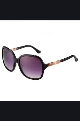 Replica Hermes Large Oversized Black Frame Sunglasses with Metallic Logo 308101