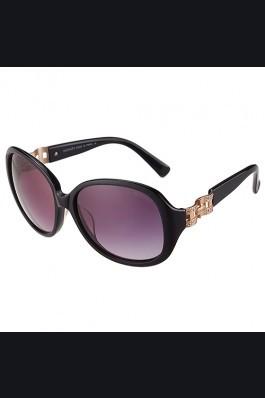Replica Hermes Oversized Round Frame Black Sunglasses 308097
