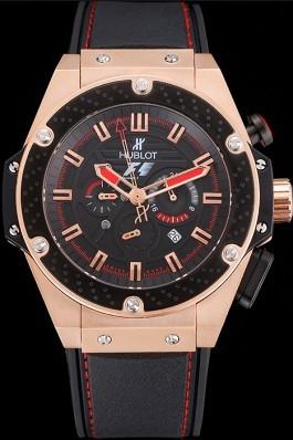 Hublot Big Bang King Power Formula 1 Gold Case Black Dial 622249 Replica Watch Hublot
