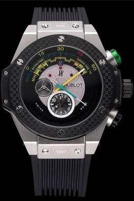 Hublot Big Bang Unico Bi-Retrograde Chrono King Stainless Steel Case Black Rubber Strap 622770 Replica Watch Hublot