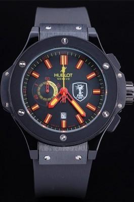 Hublot Limited Edition Ayrton Senna Black Dial Watch Red Hands Hublot Replica