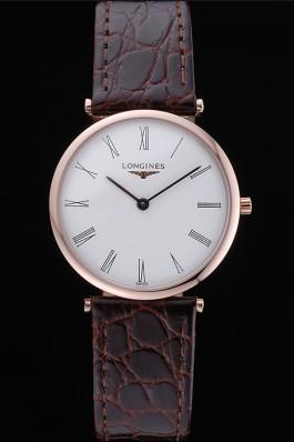 Longines La Grande Classique White Dial Brown Leather Band Homme 622136 Replica Longines Classic