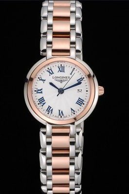 Longines PrimaLuna Stainless Steel And Gold Case Roman Numerals 622586 Longines Replica Watch