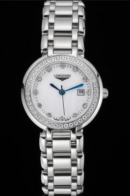 Longines PrimaLuna Stainless Steel Diamonds Case 622588 Longines Replica Watch