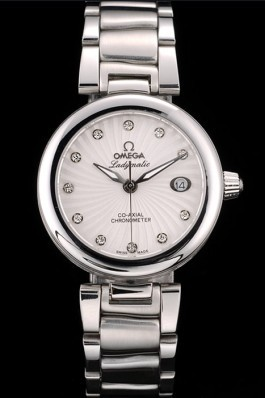 Omega DeVille Ladymatic Stainless Steel Strap White Dial Omega Replica Watch