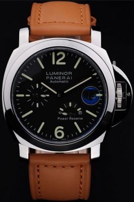 Brown Leather Band Top Quality Brown Panerai Luminor Power Reserve Luxury Watch 4766 Panerai Luminor Replica