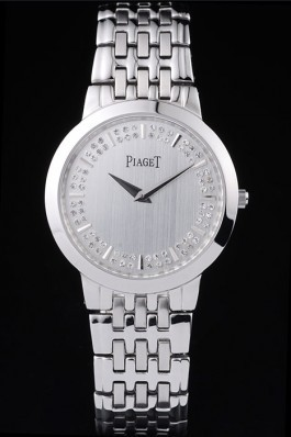 Expensive Watches Top Quality Piaget Dancer Double Studded Minute Markers Silver Dial 4906