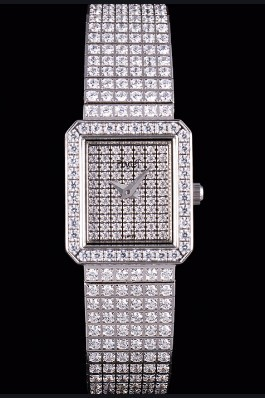 Replica Piaget Swiss Limelight Diamonds Encrusted Stainless Steel Watch 80294
