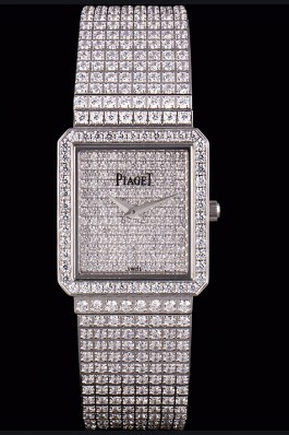 Replica Piaget Swiss Limelight Diamonds Encrusted Stainless Steel Watch 80295