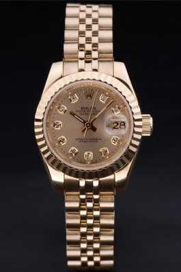 Gold Stainless Steel Band Top Quality Rolex Luxury Gold Watch 141 5081 Replica Rolex Datejust