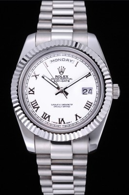 Rolex Day-Date White Dial Stainless Steel Bracelet 622547 Rolex Replica Aaa