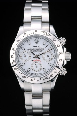 Rolex Daytona Lady Stainless Steel Case White Dial Tachymeter Rolex Daytona Replica