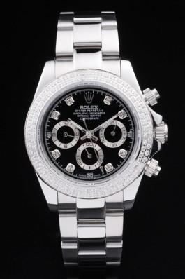 Stainless Steel Band Top Quality Rolex Silver Luxury Watch 166 5095 Rolex Daytona Replica