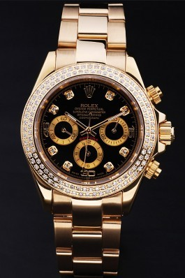 Gold Stainless Steel Band Top Quality Rolex Gold Luxury Watch 167 5096 Rolex Daytona Replica
