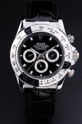 Black Leather Band Top Quality Rolex Black Luxury Watch 5266 Rolex Daytona Replica
