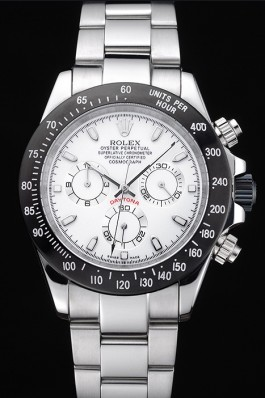 Rolex Daytona Stainless Steel Black Enameled White Dial Rolex Daytona Replica