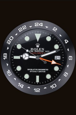 Rolex Explorer II Wall Clock Black 622477 Replica Rolex
