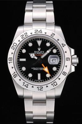 Rolex Explorer Stainless Steel Bezel Black Dial Watch Replica Rolex