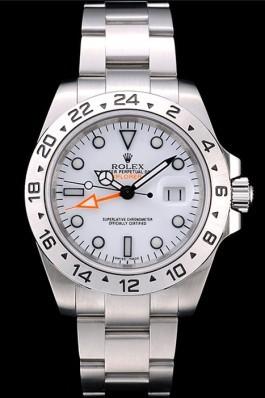 Rolex Explorer Stainless Steel Bezel White Dial Watch Replica Rolex