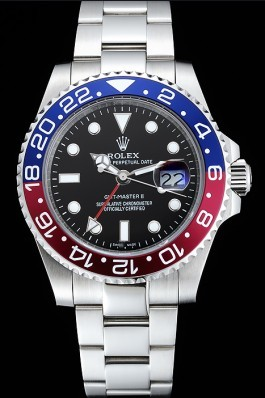 Rolex GMT Master II Blue Rose Red Bezel Black Dial Watch Rolex Replica Gmt