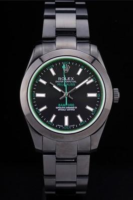 Rolex Milgaus Bamford Ion Plated Stainless Steel Bezel Black Dial 7476 Luxury Watch Replica