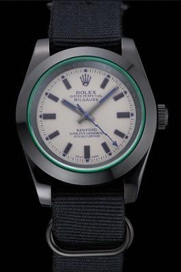 Rolex Milgauss Bamford Black Nylon Strap 622000 Luxury Watch Replica