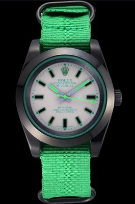 Rolex Milgauss Bamford Green Nylon Strap 622004 Luxury Watch Replica