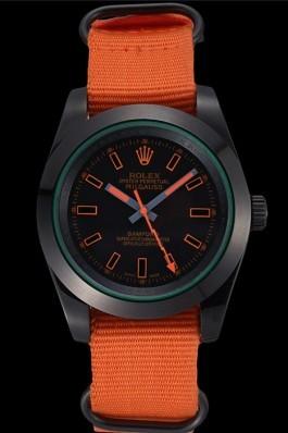 Rolex Milgauss Bamford Orange Nylon Strap 622003 Luxury Watch Replica