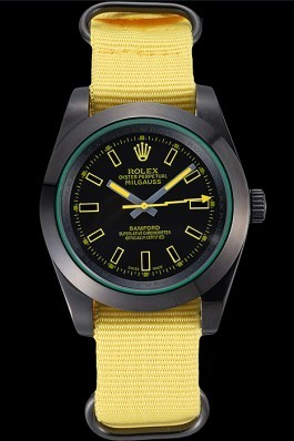 Rolex Milgauss Bamford Yellow Nylon Strap 621999 Luxury Watch Replica