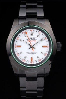 Rolex Milgauss Pro-Hunter Tinted Green Saphire White Dial Luxury Watch Replica