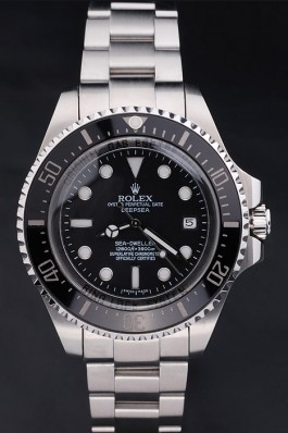 Stainless Steel Band Top Quality Silver DeepSea Luxury Watch 206 5127 Rolex Replica