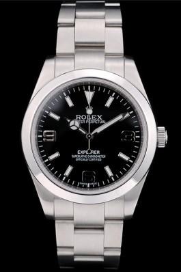 Rolex Swiss Explorer Stainless Steel Bezel Black Dial 42002 Replica Rolex