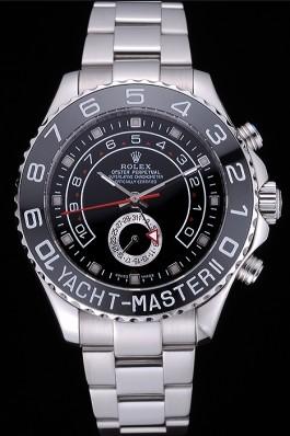 Rolex Yacht - Master II Black Dial Stainless Steel Bracelet 622541 Rolex Replica Cheap