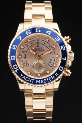 Gold Stainless Steel Band Top Quality Rose Rolex Yacht-Master II Luxury Watch 243 5157 Rolex Replica Cheap