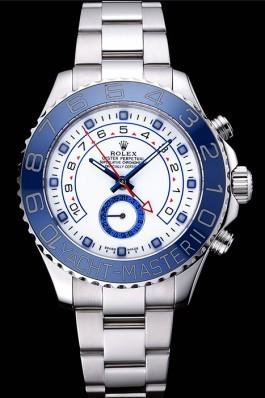 Rolex Yacht Master II White Dial Blue Bezel Stainless Steel Bracelet 622269 Rolex Replica Cheap