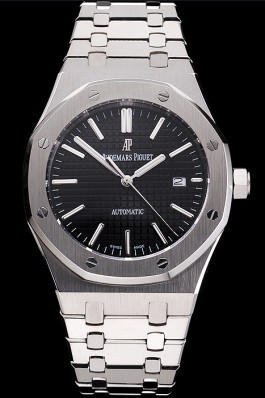 Swiss Audemars Piguet Royal Oak Black Dial Stainless Steel Case And Bracelet Piguet Replica