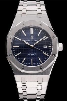 Swiss Audemars Piguet Royal Oak Blue Dial Stainless Steel Case And Bracelet Piguet Replica