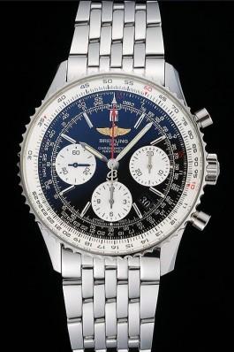 Swiss Breitling Navitimer Black Dial Stainless Steel Bracelet 622442 Replica Designer Watches