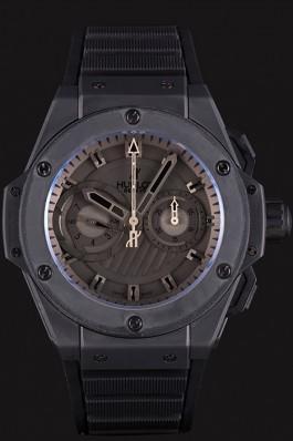 Swiss Hublot King Power Black Dial with Rubber Band shb10 621403 Hublot Replica Watch