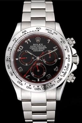 Swiss Rolex Daytona Stainless Steel Bracelet Black Dial 80296 Rolex Daytona Replica