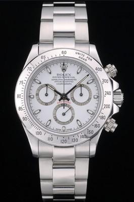 Swiss Rolex Daytona Stainless Steel Bracelet White Dial 80297 Rolex Daytona Replica