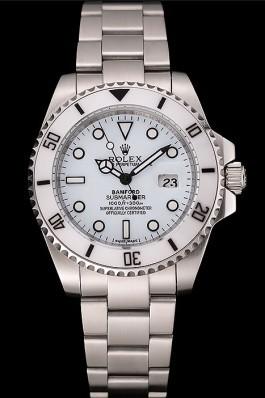 Swiss Rolex Submariner Bamford White Dial Stainless Steel Bracelet 1453978 Rolex Submariner Replica