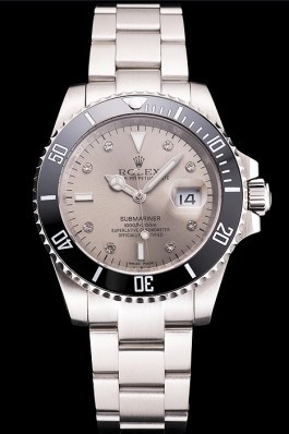 Swiss Rolex Submariner Silver Dial Diamond Markings Black Bezel Stainless Steel Case And Bracelet Rolex Submariner Replica