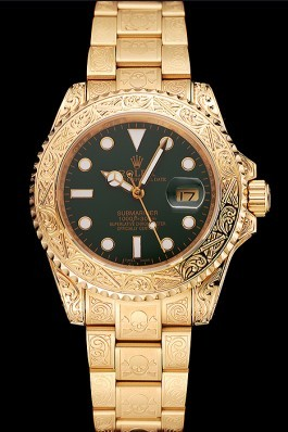 Swiss Rolex Submariner Skull Limited Edition Green Dial Gold Case And Bracelet 1454088 Rolex Submariner Replica