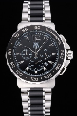 Tag Heuer Formula 1 Chronograph Black Dial Black Bezel Two Tone Stainless Steel Band 622412 Replica Tag Formula 1