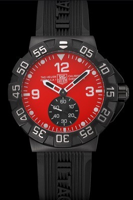 Tag Heuer Formula One Grande Date Red Dial Rubber Bracelet 622277 Replica Tag Formula 1