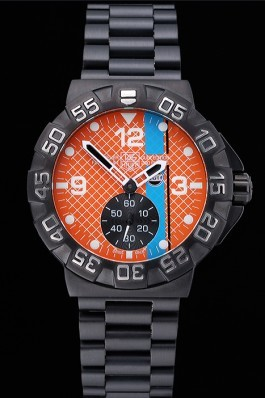 Tag Heuer Formula One Special Gulf Edition Orange And Blue Dial Ion Plated Steinless Steel Bracelet 622291 Replica Tag Formula 1