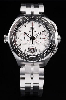 Tag Heuer Swiss SLR Tachymeter Bezel Stainless Steel White Dial Aaa Tag Heuer Replica